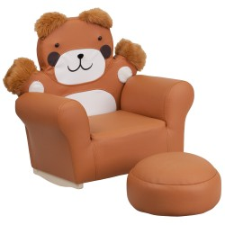 Kids Bear Rocker Chair and Footrest