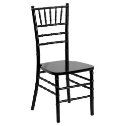Friendly Elegance Supreme Black Wood Chiavari Chair