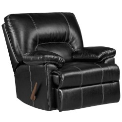 Taos Black Leather Rocker Recliner