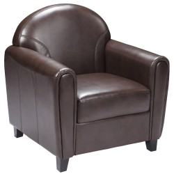 Presidential Collection Brown Leather Chair