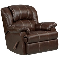 Brandon Brown Leather Rocker Recliner