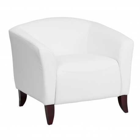 Emperor Collection White Leather Chair