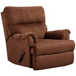 Aruba Chocolate Microfiber Rocker Recliner