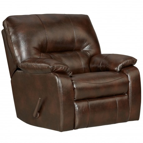 Canyon Chocolate Leather Chaise Rocker Recliner