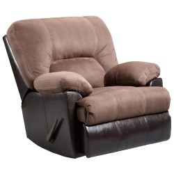 Laredo Chocolate Microfiber Rocker Recliner