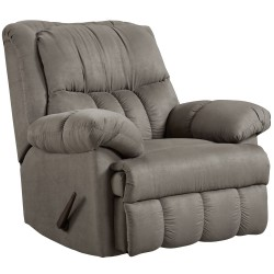 Sensations Grey Microfiber Rocker Recliner