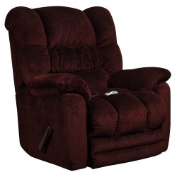 Massaging Temptation Merlot Microfiber Recliner with Heat Control