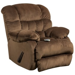 Massaging Sharpei Espresso Microfiber Recliner with Heat Control