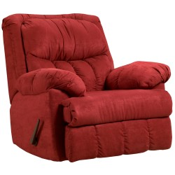 Sensations Red Brick Microfiber Rocker Recliner