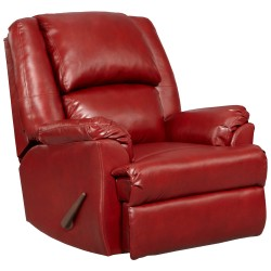 Sensations Red Brick Leather Rocker Recliner