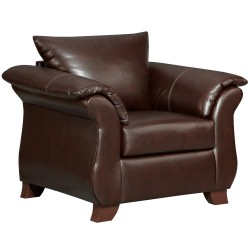 Taos Mahogany Leather Chair