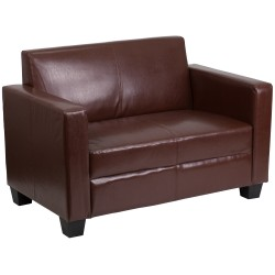 Primo Collection Brown Leather Loveseat