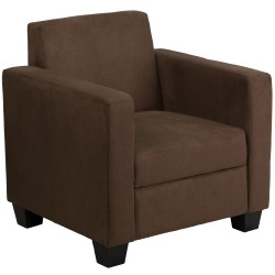 Primo Collection Chocolate Brown Microfiber Chair