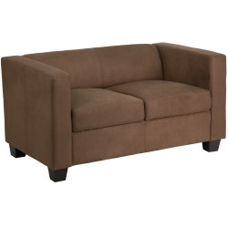 Comfort Collection Chocolate Brown Microfiber Loveseat