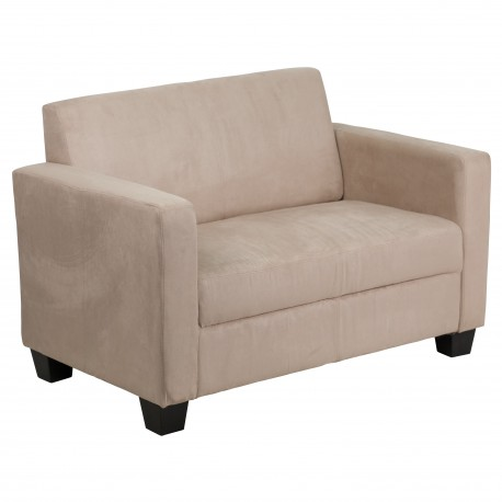 Primo Collection Light Brown Microfiber Loveseat