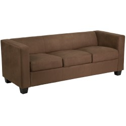Comfort Collection Chocolate Brown Microfiber Sofa