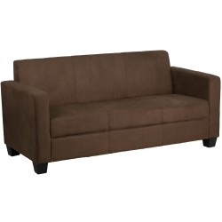 Primo Collection Chocolate Brown Microfiber Sofa