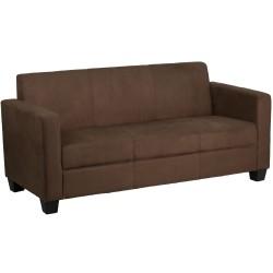 Primo Collection Chocolate Brown Microfiber Sofa