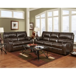 Reclining Living Room Set in Canyon Chocolate Leather