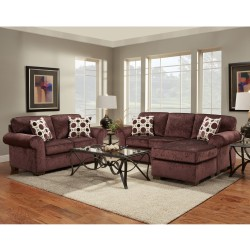 Living Room Set in Prism Elderberry Microfiber