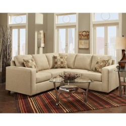 Vivid Beige Fabric Sectional