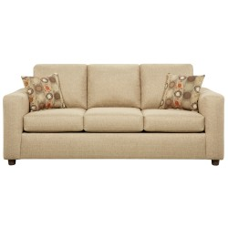 Vivid Beige Fabric Sofa