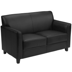 Able Collection Black Leather Love Seat