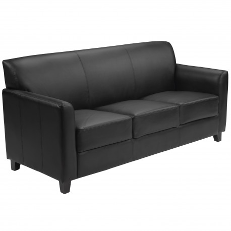 Able Collection Black Leather Sofa