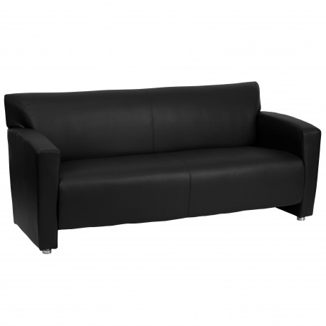 Sage Collection Black Leather Sofa