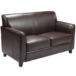 Able Collection Brown Leather Love Seat