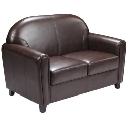 Presidential Collection Brown Leather Love Seat