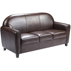 Presidential Collection Brown Leather Sofa