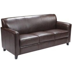 Able Collection Brown Leather Sofa