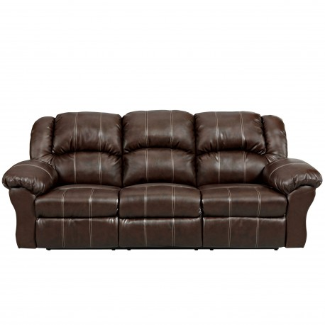 Brandon Brown Leather Reclining Sofa