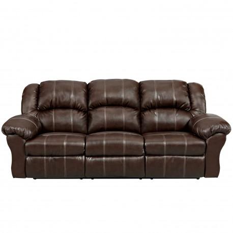 brandon brown leather reclining sofa. Black Bedroom Furniture Sets. Home Design Ideas