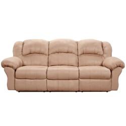 Sensations Camel Microfiber Reclining Sofa