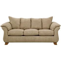 Sensations Camel Microfiber Sofa