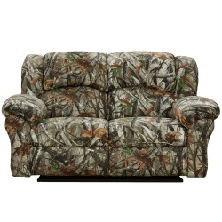 Next Camouflage Fabric Reclining Loveseat