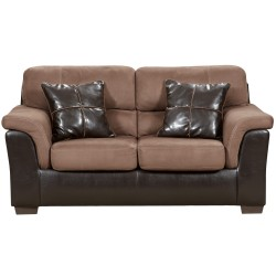 Laredo Chocolate Microfiber Loveseat