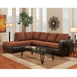 Aruba Chocolate Microfiber L-Shaped Sectional