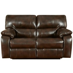 Canyon Chocolate Leather Reclining Loveseat