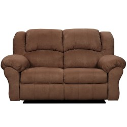 Aruba Chocolate Microfiber Reclining Loveseat