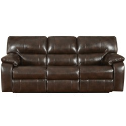 Canyon Chocolate Leather Reclining Sofa