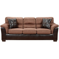 Laredo Chocolate Microfiber Sofa