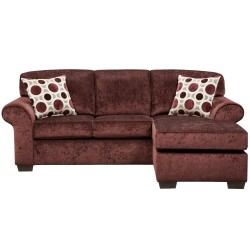 Prism Elderberry Microfiber Sofa Chaise