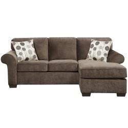Elizabeth Ash Microfiber Sofa Chaise