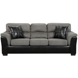 Laredo Graphite Microfiber Sofa