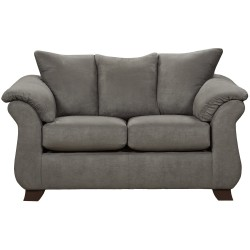Sensations Grey Microfiber Loveseat