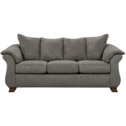 Sensations Grey Microfiber Sofa