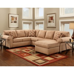 Patriot Mocha Microfiber U-Shaped Sectional